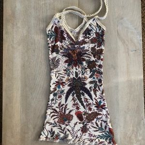 Free people boho tank top with ruching on chest